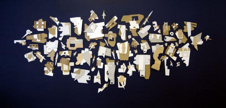 JARDÍN III, 2016   cartón industrial sobre tela   460x240cm