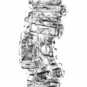 DAME LA MANO Y SEGUIMOS (momentos III), 2017 carbón prensado sobre papel sulfurizado 70x190cm