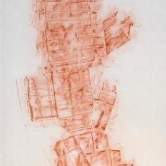 DAME LA MANO Y SEGUIMOS (momentos I), 2017. carbón prensado sobre papel sulfurizado. 70x190cm