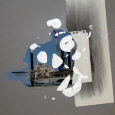 FRAUDE (La calunia de Apeles), 2016 collage sobre papel 30x42cm