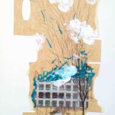 HUELLA, 2015 collage sobre papel 42x29,7cm