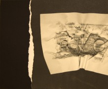 EL SILENCIO DE LAS ARRUGAS II, 2017 impresión digital sobre papel cansón y collage 36x29 cm