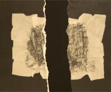EL SILENCIO DE LAS ARRUGAS V, 2017 impresión digital sobre papel cansón y collage 36x29 cm