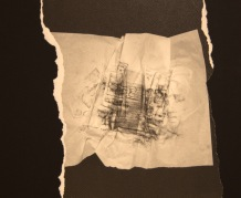 EL SILENCIO DE LAS ARRUGAS VI, 2017 impresión digital sobre papel cansón y collage 36x29 cm