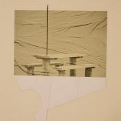 SE MARCHÓ A UN LUGAR IGNOTO, 2017 impresión digital sobre papel cansón y collage 36x42cm