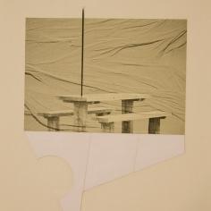 SE MARCHÓ A UN LUGAR IGNOTO I, 2017 impresión digital sobre papel cansón y collage 34x41cm