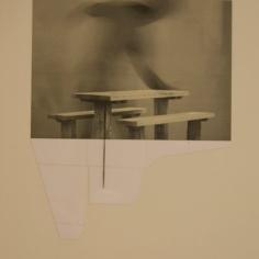 SE MARCHÓ A UN LUGAR IGNOTO II, 2017 impresión digital sobre papel cansón y collage 34x41cm