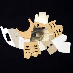 ECO-S, 2018 infografía, carbón y cartón industrial sobre cartón passe-partout crescent 81x120cm