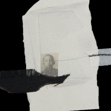 SILENCIO V (detalle), 2018. collage sobre cartón passe-partout crescent. 120x81cm