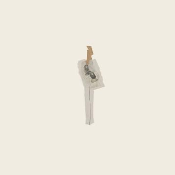 SILENCIO IV, 2018. collage sobre cartón passe-partout crescent. 81x120cm
