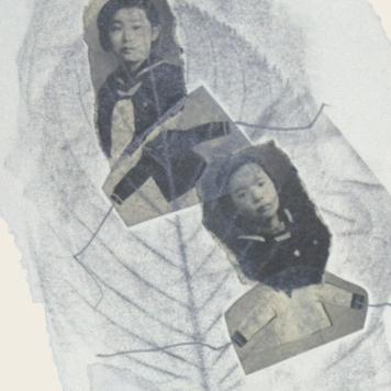SILENCIO IV (detalle), 2018. collage sobre cartón passe-partout crescent. 81x120cm