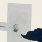 SILENCIO III (detalle), 2018. collage sobre cartón passe-partout crescent. 120x81cm