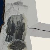 SILENCIO II (detalle), 2018. collage sobre cartón passe-partout crescent. 120x81cm