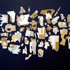 JARDÍN III (detalle), 2016 cartón industrial sobre tela 460x240cm