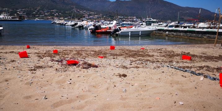 El Port de la Selva, 2018 Girona _ Libros, cuerda de cáñamo y pintura sintética 10 piezas entre 25x18x15cm y 19x9x8cm